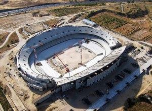 Temporada 2015-2016. Fotos aéreas del Nuevo Estadio.