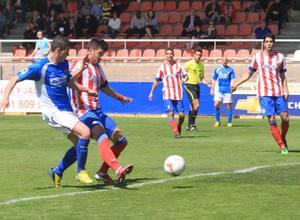 Cidoncha remata a la red el 2-0 del Atlético B frente al Fuenlabrada