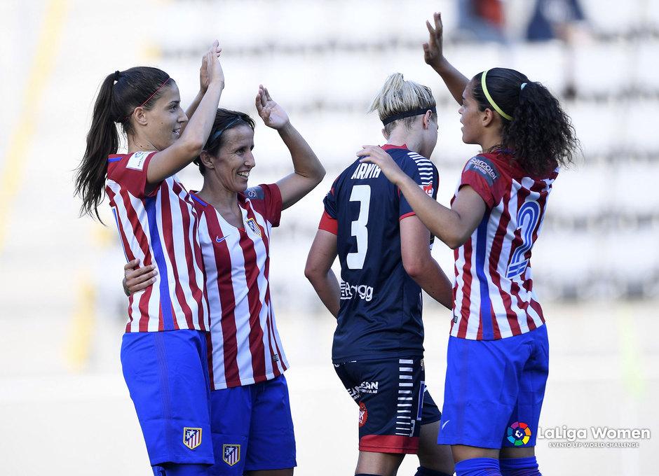 El Atlético de Madrid Femenino goleó en su primer partido en Suecia frente al Linköpings