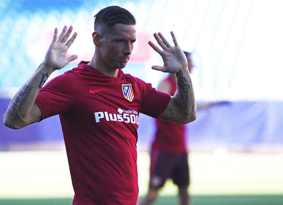 Temporada 16/17. Entrenamiento en el Vicente Calderón. Torres
