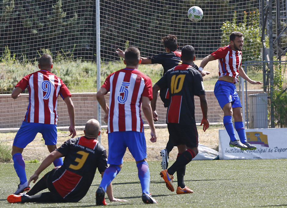 Temp. 2016/2017. Unión Adarve - Atlético de Madrid B. Gol de Keidi
