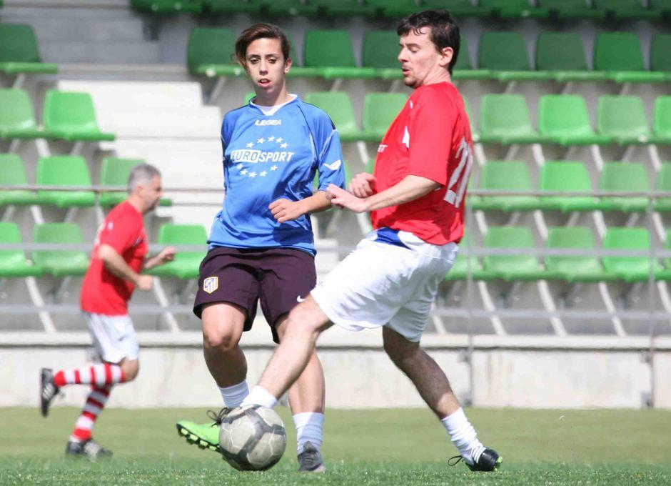 Temporada 2012-2013. Nagore Calderón durante el partido ante los periodistas de Eurosport