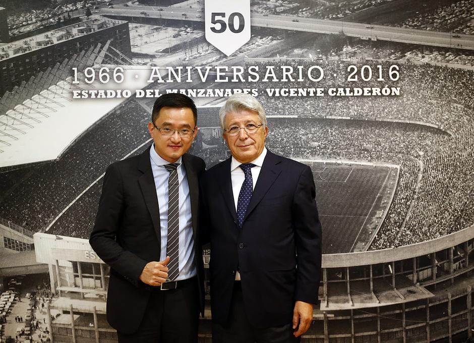 Temporada 16/17. Comida de Veteranos en la Sala Vip del Estadio Vicente Calderón. Partido Atlético Granada