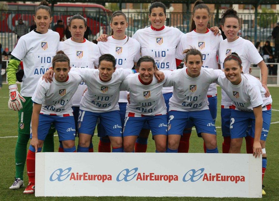 Temporada 2012-2013. Once inicial del Féminas en el derbi madrileño