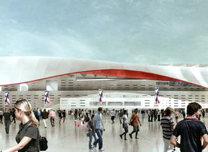 Nuevo estadio - Cruz y Ortiz