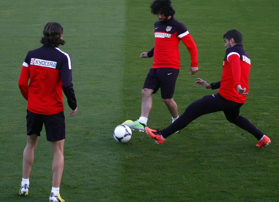 El Atlético entrenó en la Ciudad Deportiva del Bakú FC.