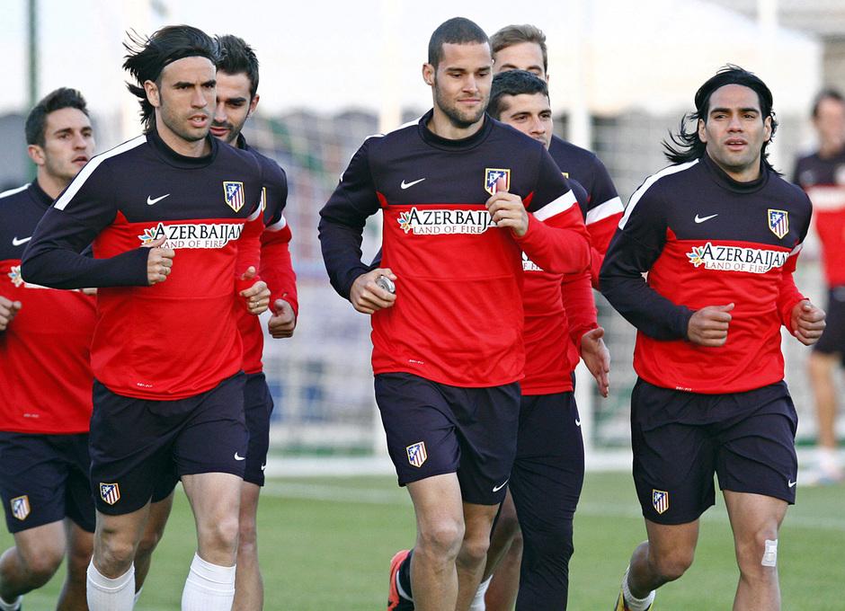 Los jugadores se ejercitaron en la Ciudad Deportiva del Bakú FC