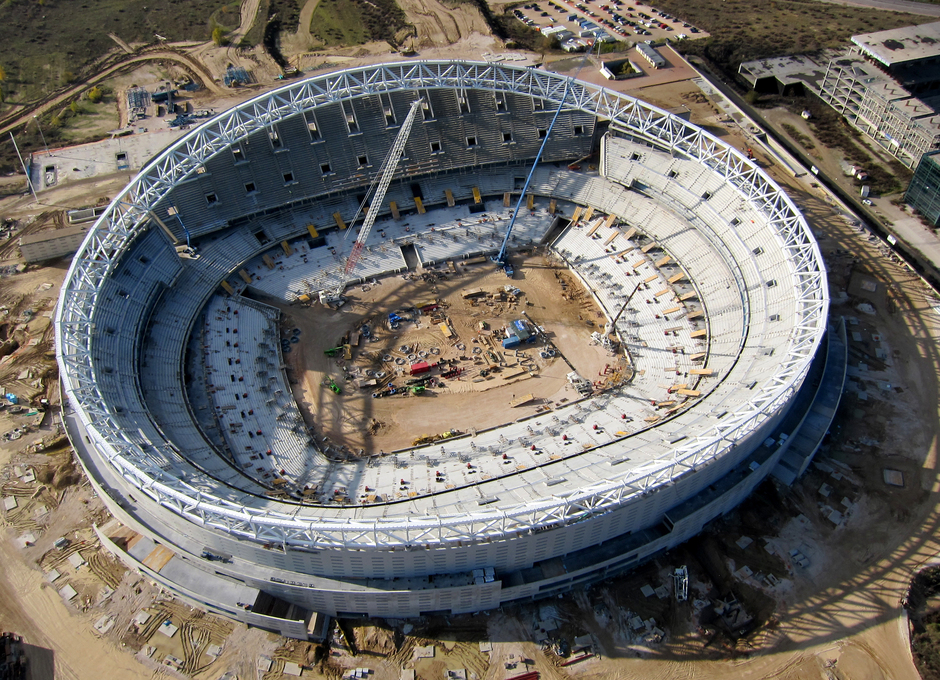 Nuevo estadio 5 de diciembre. Fotos aéreas.