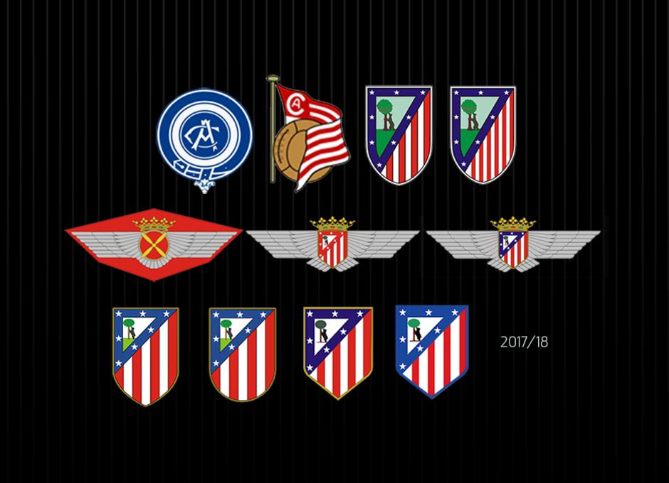 Evolución de los escudos del club