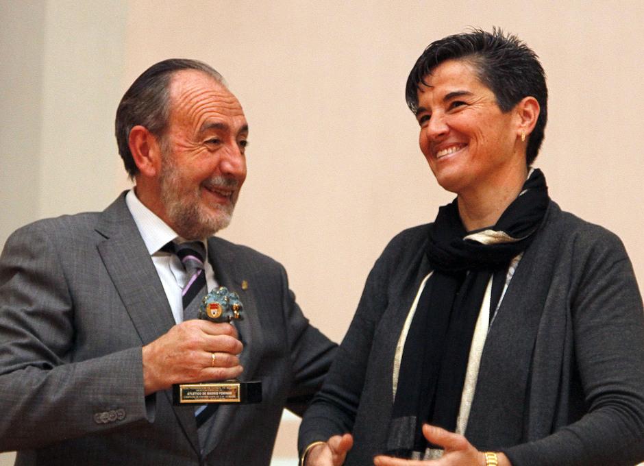 Lola Romero. Premio Federación Madrileña de fútbol Atlético Femenino