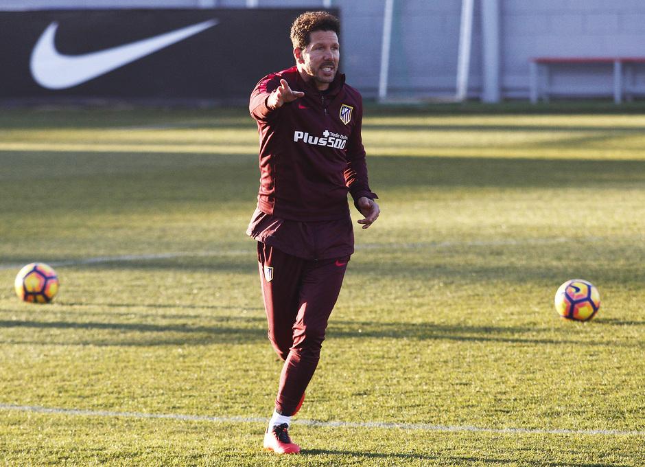 Temporada 2016-2017. Entrenamiento en la ciudad deportiva Wanda Atlético de Madrid 05_09_2017. Simeone.