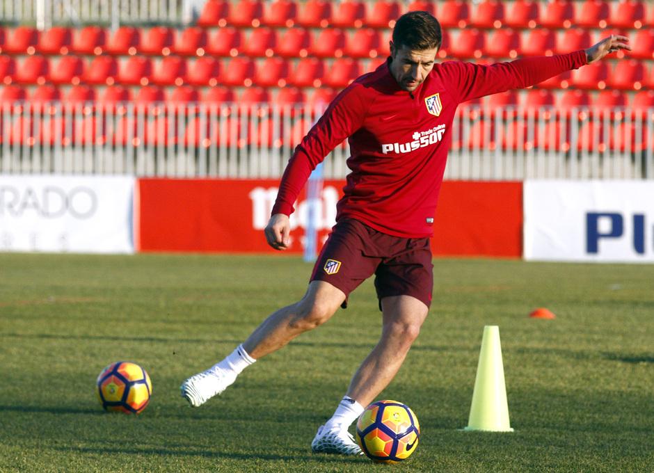Temporada 2016-2017. Entrenamiento en la ciudad deportiva Wanda Atlético de Madrid 05_09_2017. Gabi.