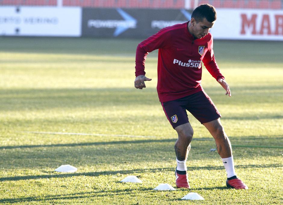 Temporada 2016-2017. Entrenamiento en la ciudad deportiva Wanda Atlético de Madrid 05_09_2017. Correa.