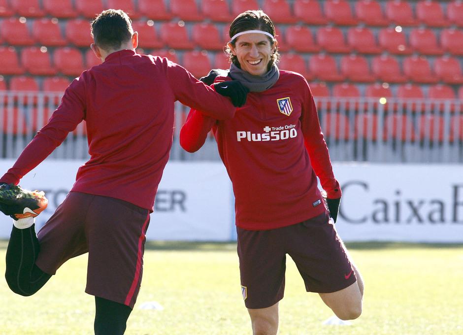 Temporada 2016-2017. Entrenamiento en la ciudad deportiva Wanda Atlético de Madrid 06_10_2017. Filipe.
