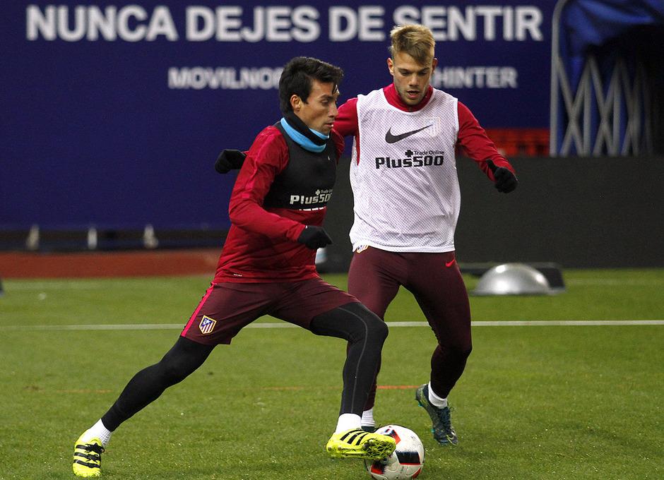 Temporada 2016-2017. Entrenamiento en el Vicente Calderón. 09_01_2017. Gaitán.