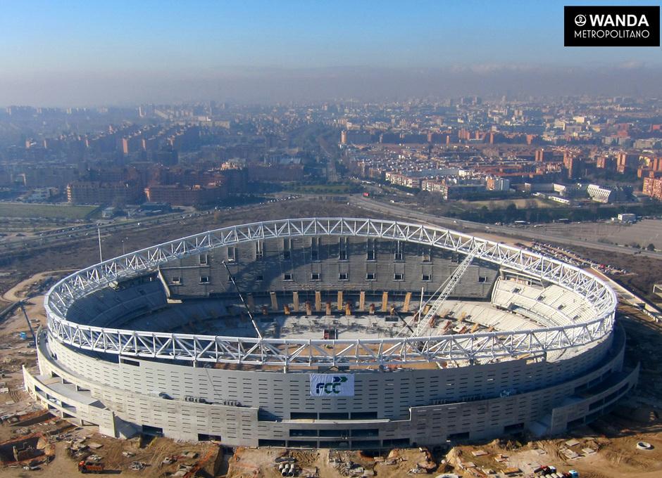 Imagen aérea del Wanda Metropolitano (4 de enero de 2017)