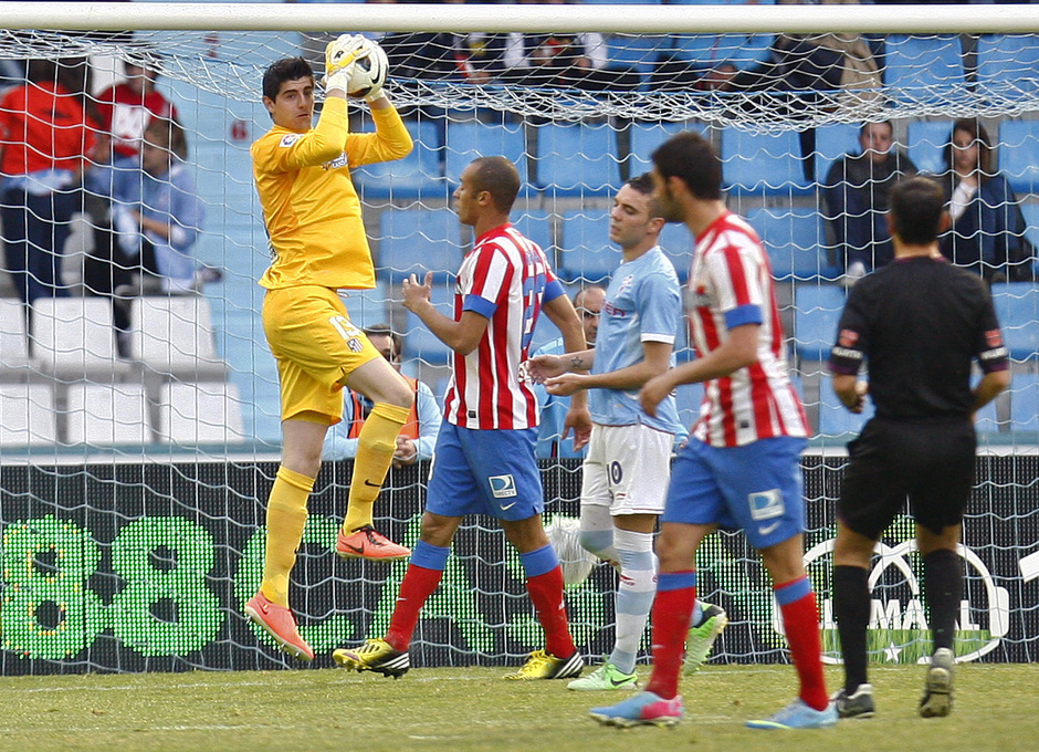 Temporada 12/13. RC Celta de Vigo vs. Atlético de Madrid Courtois