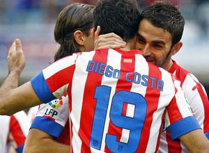 Temporada 12/13. RC Celta de Vigo vs. Atlético de Madrid Diego Costa gol