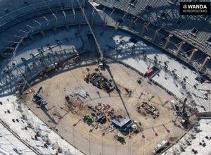 Imagen aérea del Wanda Metropolitano