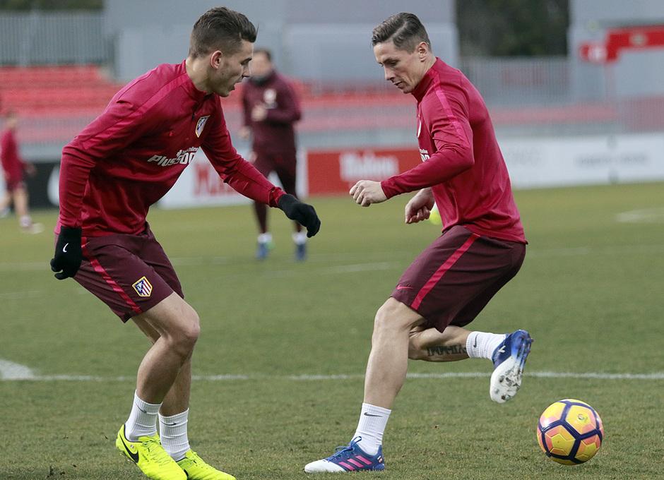 Temporada 16/17 | 14/02/2017 | Entrenamiento en la Ciudad Deportiva Wanda | Torres y Lucas