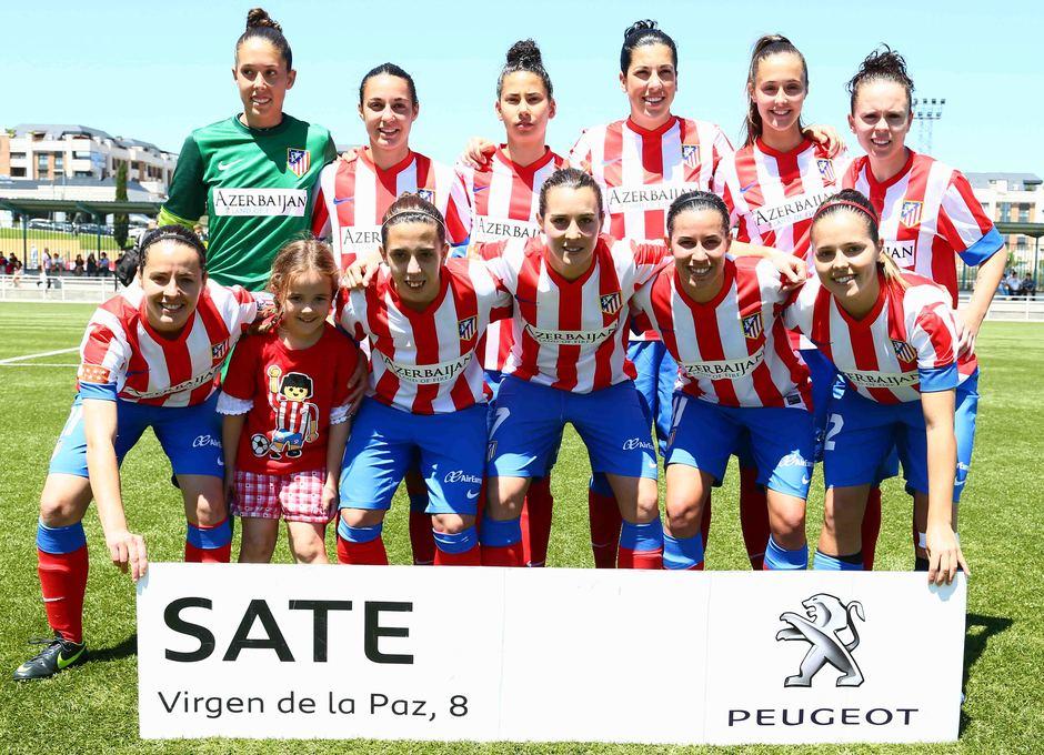 Temporada 2012-2013. Once del Féminas en el partido de ida de Copa ante el Athletic