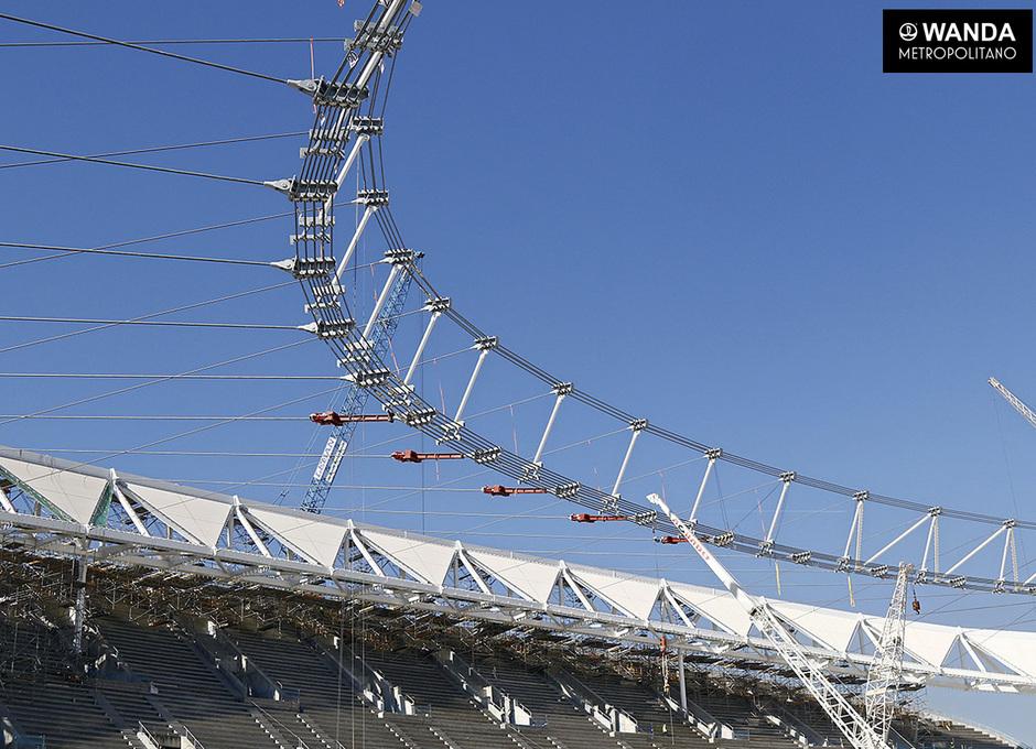 1 de marzo. Obras del Wanda Metropolitano