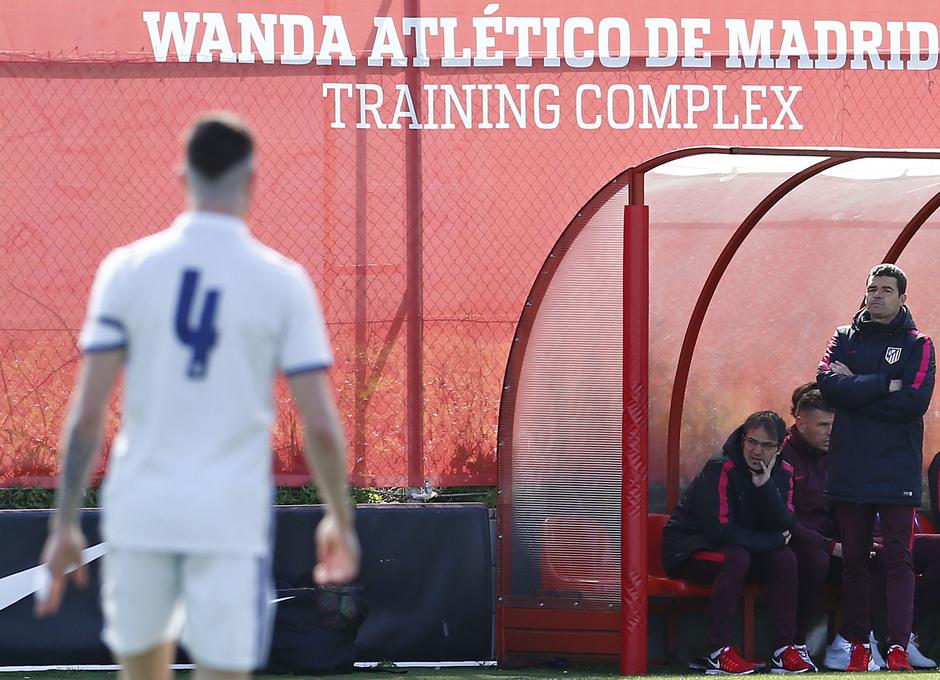 Temporada 2016-2017. Partido entre el Atlético de Madrid Juvenil División de Honor contra el Real Madrid. 04_03_2017. Manolo Cano.