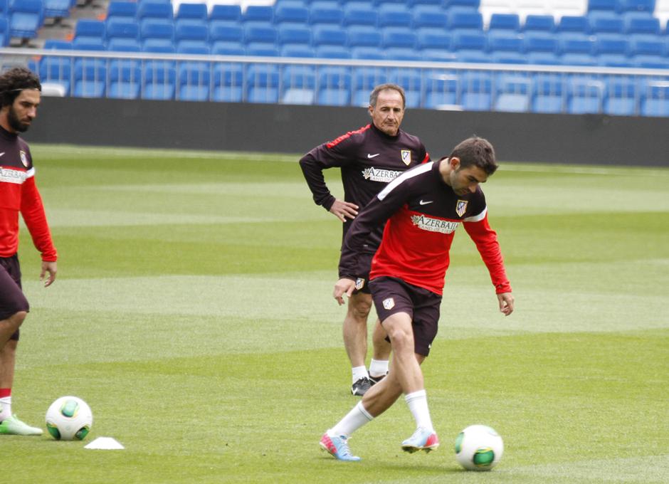 Final Copa del Rey 2012-2013. Adrián en el entrenamiento previo a la final