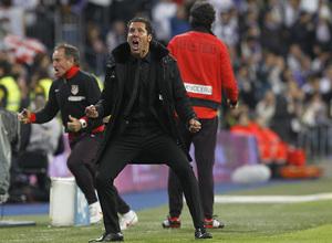 Temporada 12/13. Final Copa del Rey 2012-13. Real Madrid - Atlético de Madrid. Diego Pablo Simeone celebra uno de los goles