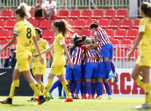 Temporada 2016-2017. Partido entre el Atlético de Madrid Femenino contra Santa Teresa. 22_04_2017.