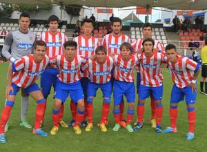 Once del Atlético de Madrid Juvenil DH ante Las Palmas en Copa del Rey