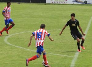 Rubén, en un contragolpe,  marcó el gol que significaba el 2-0 ante Las Palmas