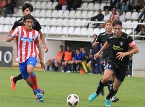 Borja Martínez, en un momento del partido contra el Las Palmas en Copa