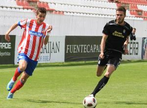 Ivi fue el autor de primer gol a Las Palmas en el partido de ida de los octavos de Copa