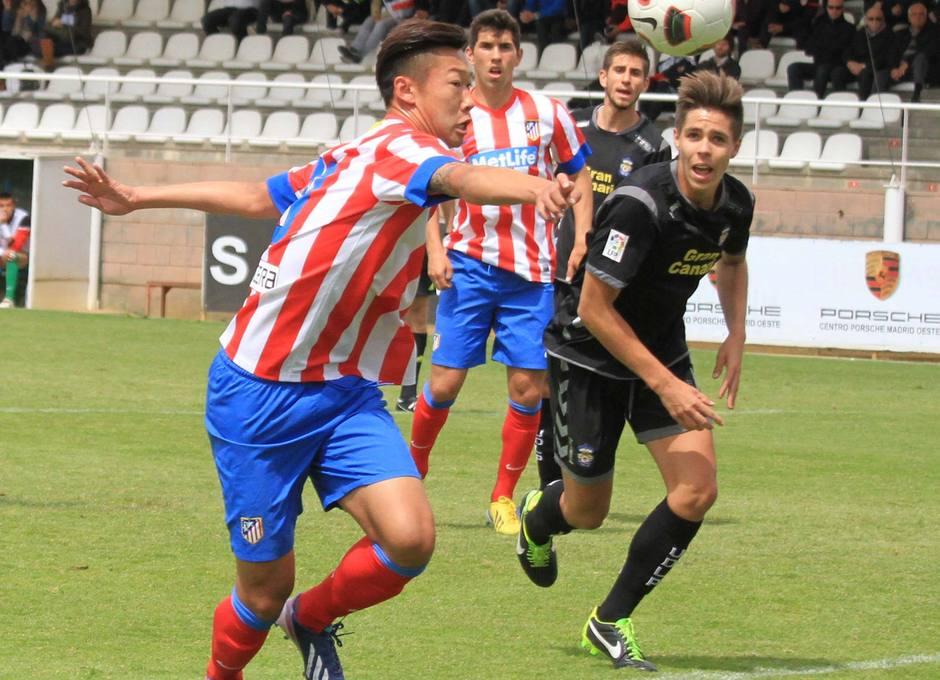 Xu Xin, del Atlético de Madrid Juvenil DH, en un momento del partido contra Las Palmas