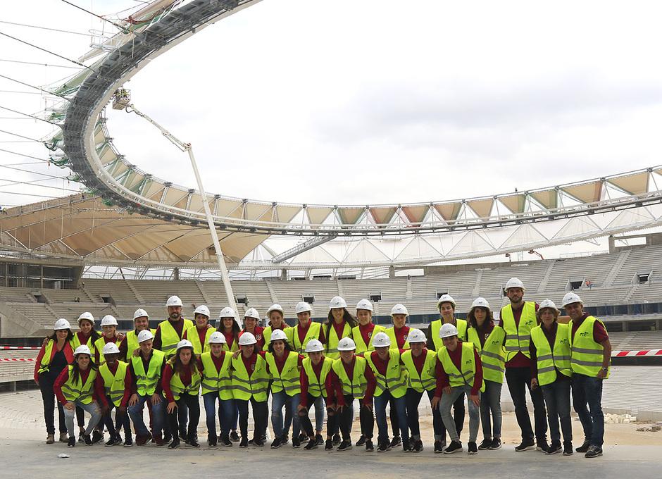 Visita del Femenino al Wanda Metropolitano