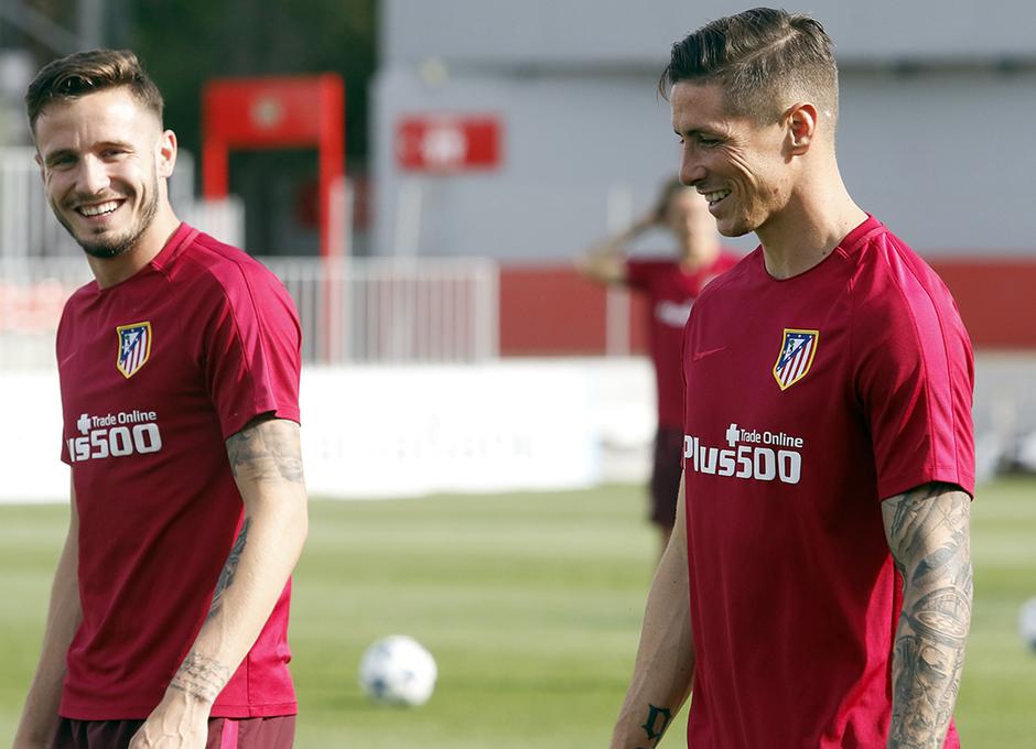 Temporada 16/17 | 08/05/2017 | Entrenamiento en la Ciudad Deportiva Wanda | Saúl y Torres