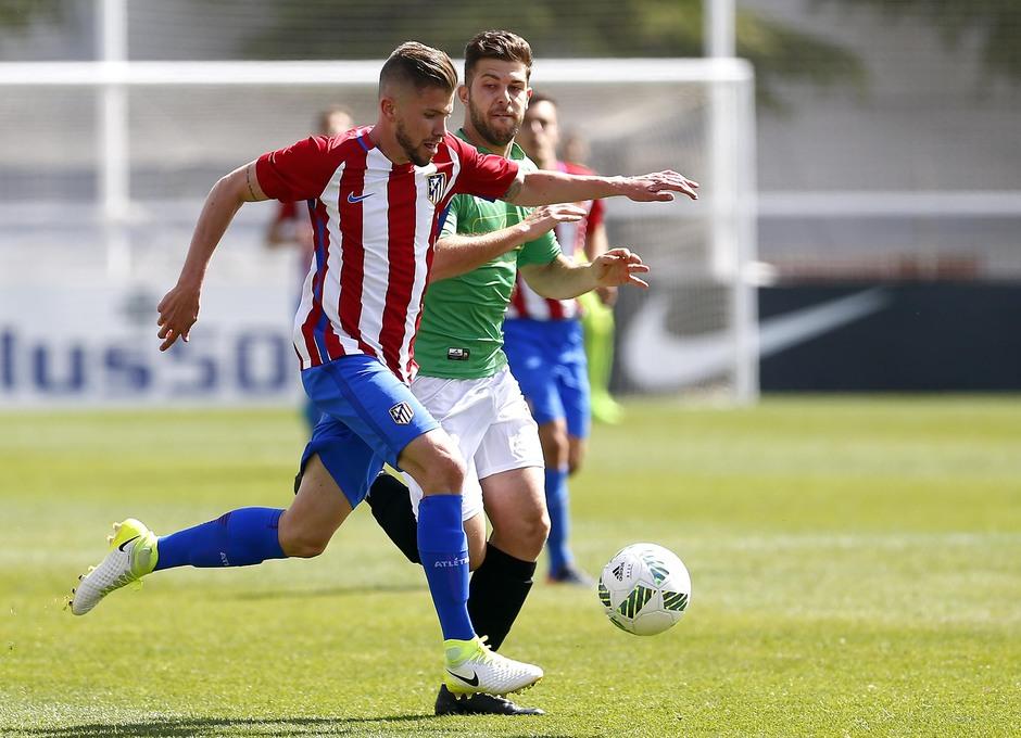 Temporada 2016-2017. Partido entre el Atlético de Madrid B contra el Alcobendas Levitt. 14-05-2017. Caio.