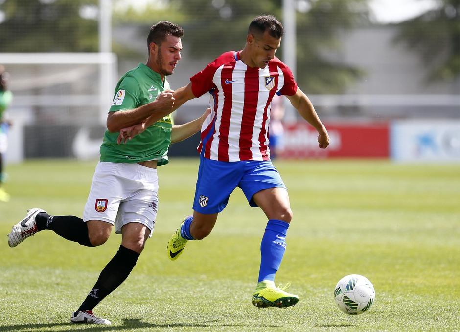 Temporada 2016-2017. Partido entre el Atlético de Madrid B contra el Alcobendas Levitt. 14-05-2017. Perales.