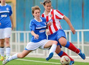 Temporada 2012-2013. Lance del juego en el partido del Féminas D