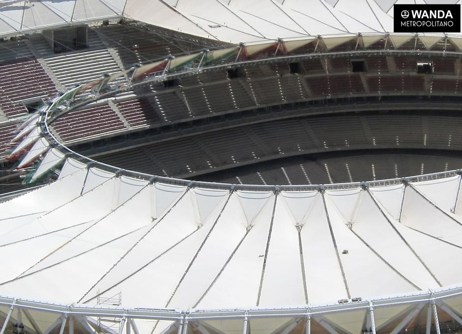 Imágenes aéreas - Wanda Metropolitano - 26 de mayo de 2017