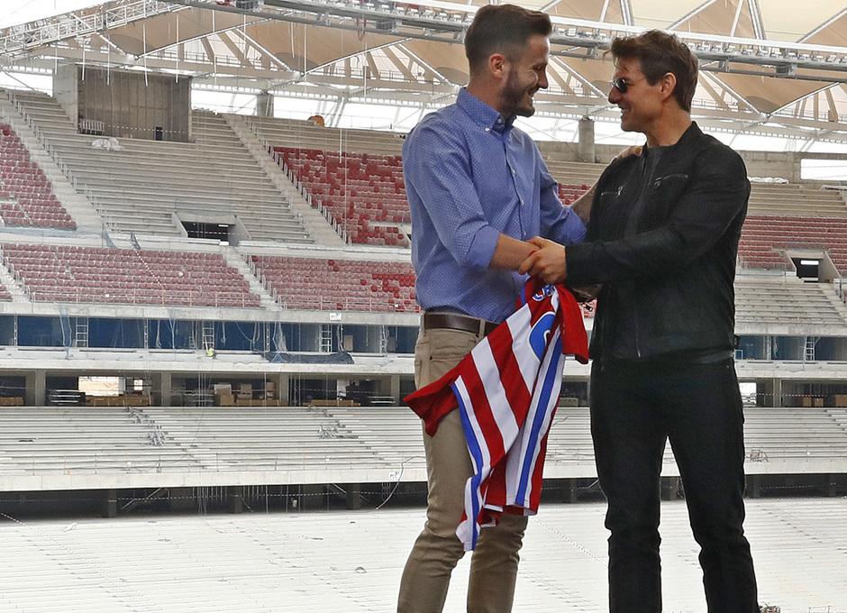 Visita Tom Cruise y equipo de La Momia al Wanda Metropolitano | Saúl