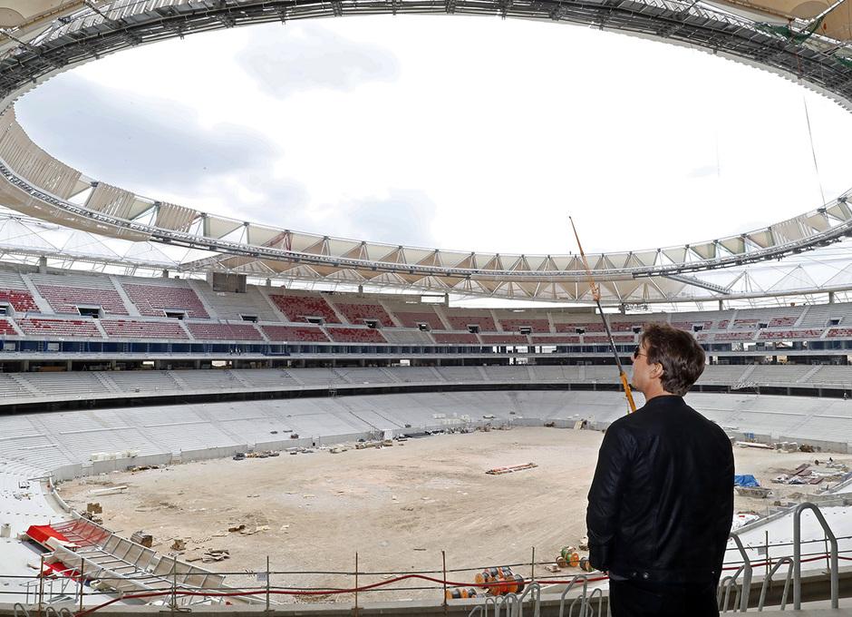 Visita Tom Cruise y equipo de La Momia al Wanda Metropolitano