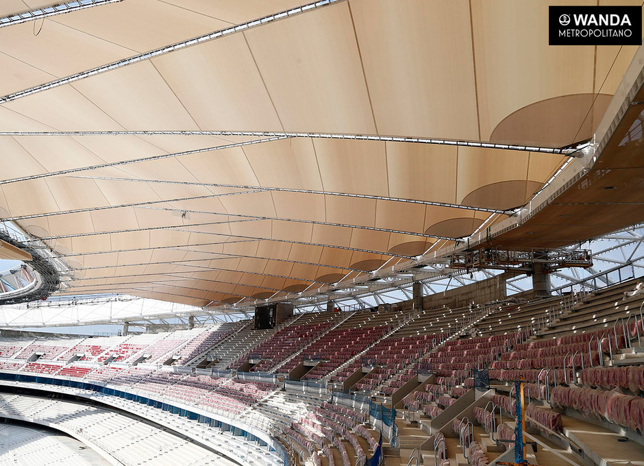 Wanda Metropolitano. Videomarcador lateral. 1 de junio de 2017.