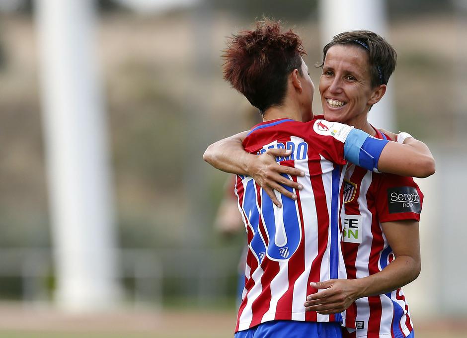 Temporada 2016-17.Copa de la Reina. Atlético de MAdrid - Granadilla. Sonia y Amanda