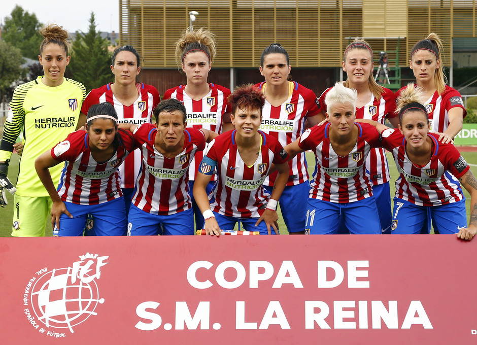 Temporada 2016-17.Copa de la Reina. Atlético de MAdrid - Granadilla. Once