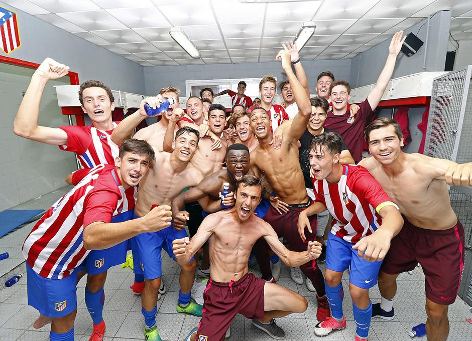 Temporada 16/17 | Copa del Rey Juvenil | Atlético - Sevilla | Celebración del pase a la final