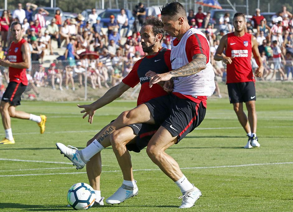Temp. 17-18 | Entrenamiento en Los Ángeles de San Rafael. 14/7/2017. Torres