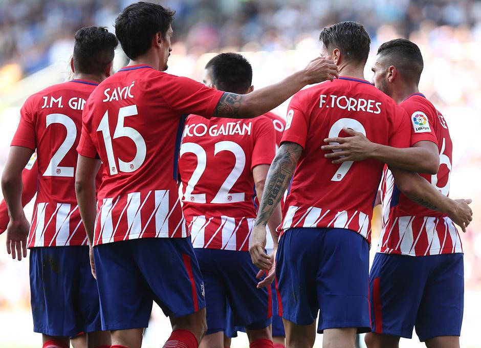 Amistoso | Brighton - Atlético de Madrid. Celebración