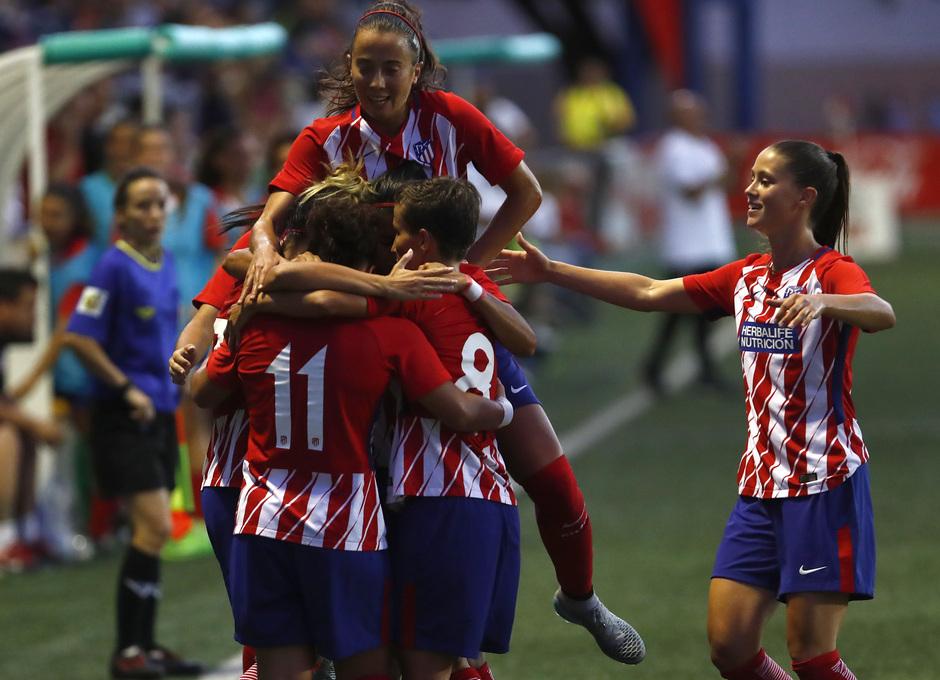 COTIF | Atlético de Madrid - Valencia Femenino. Celebracion del gol de Carla.